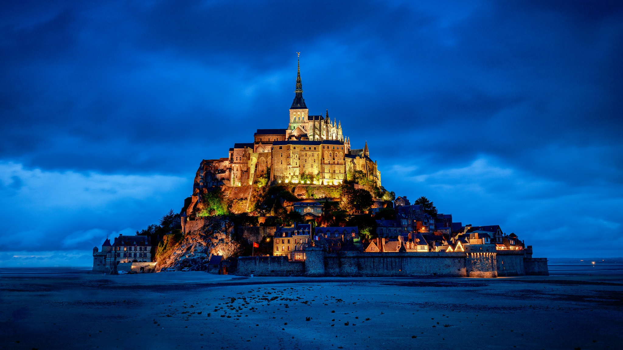 Mont Saint Michel Hd Wallpaper Background Image