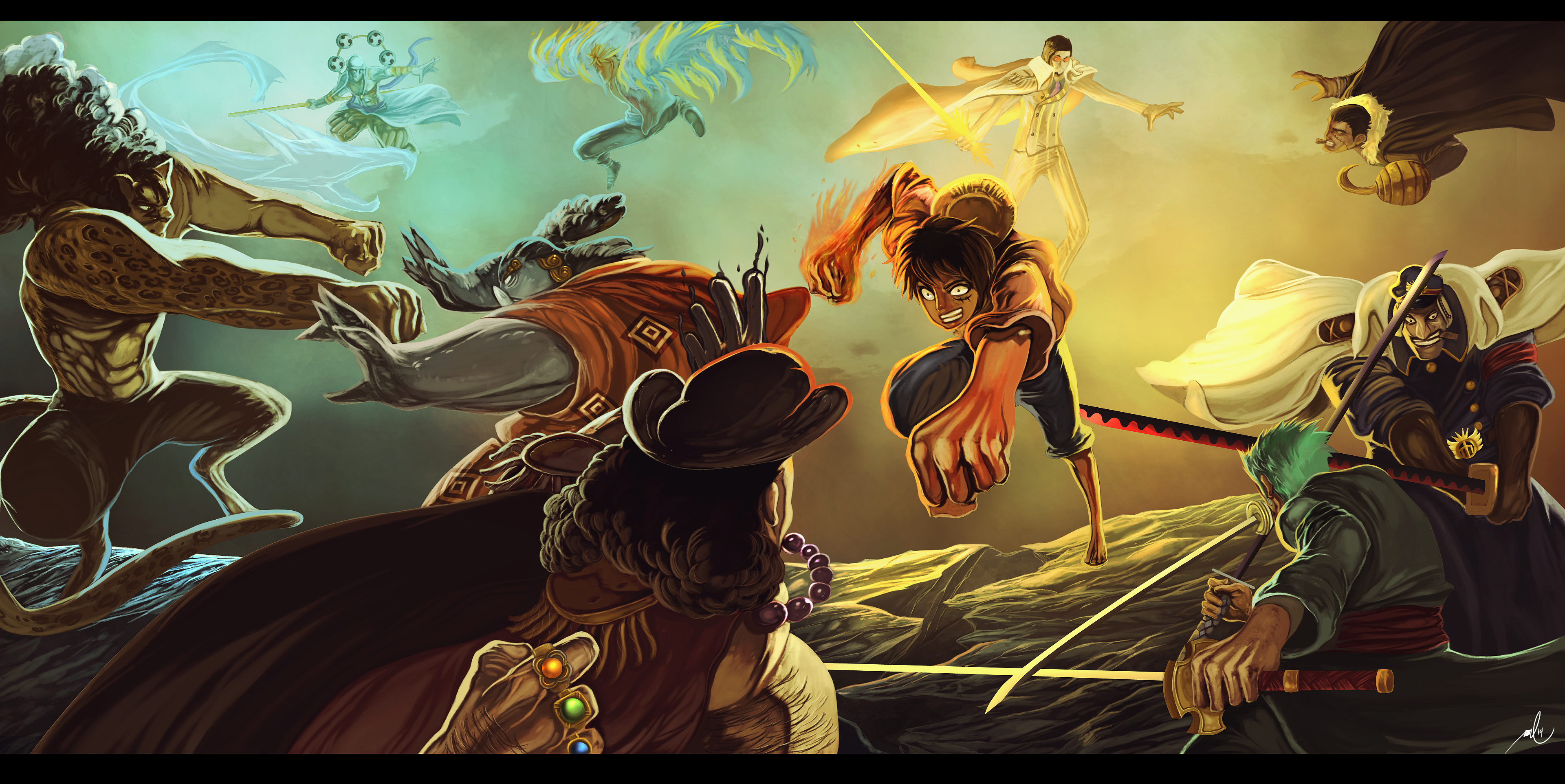 One piece hd wallpaper background image 3841x1925 id - One piece wallpaper ...