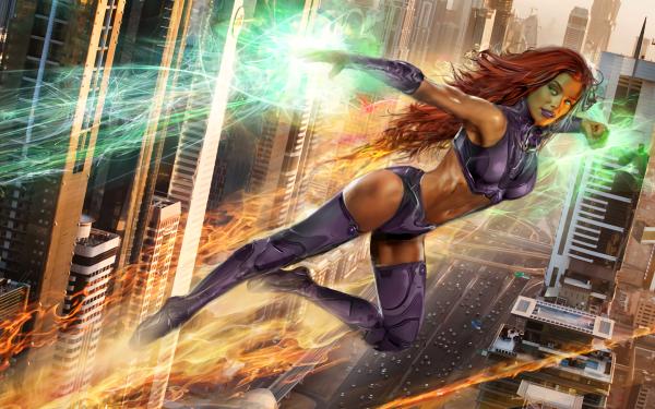 Comics Starfire Teen Titans DC Comics HD Wallpaper   Background Image