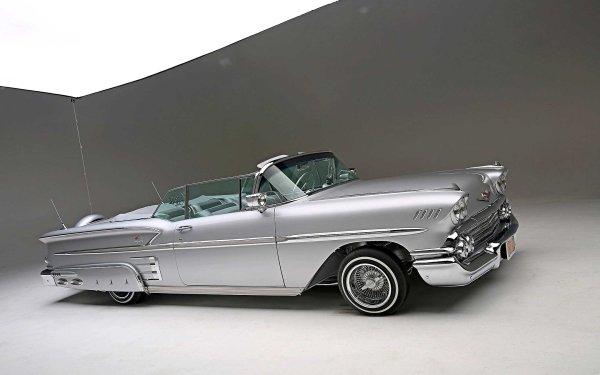 Vehicles Chevrolet Impala Convertible Chevrolet 1958 Chevrolet Impala Convertible Lowrider HD Wallpaper | Background Image