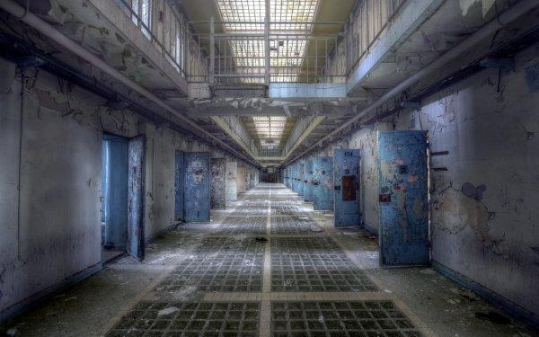 Man Made Prison Jail Abandoned Creepy Ruin HD Wallpaper | Background Image
