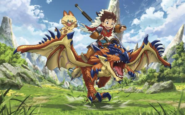 Anime Monster Hunter Stories: Ride On Monster Hunter HD Wallpaper   Background Image