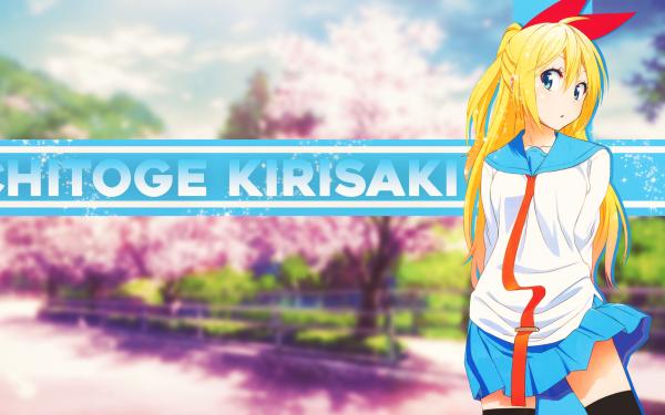Anime Nisekoi Chitoge Kirisaki Blonde Long Hair School Uniform Skirt Blue Eyes HD Wallpaper | Background Image