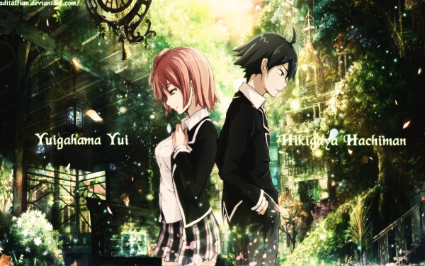 Anime My Teen Romantic Comedy SNAFU Yui Yuigahama Hachiman Hikigaya HD Wallpaper   Background Image