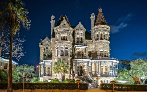 Man Made Palace Palaces Architecture Building Texas Bishop's Palace HD Wallpaper   Background Image