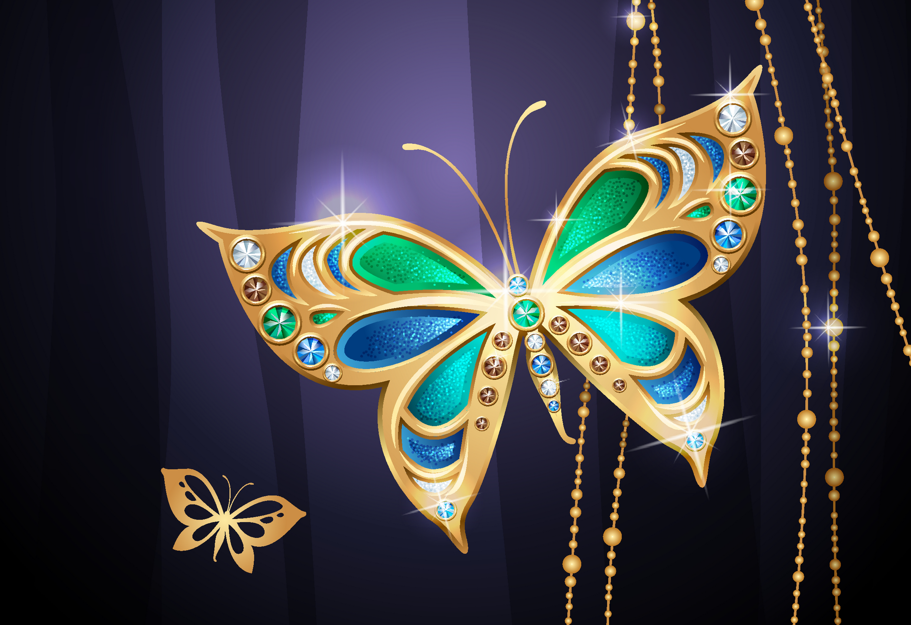 Jeweled Butterfly HD Wallpaper | Background Image ...