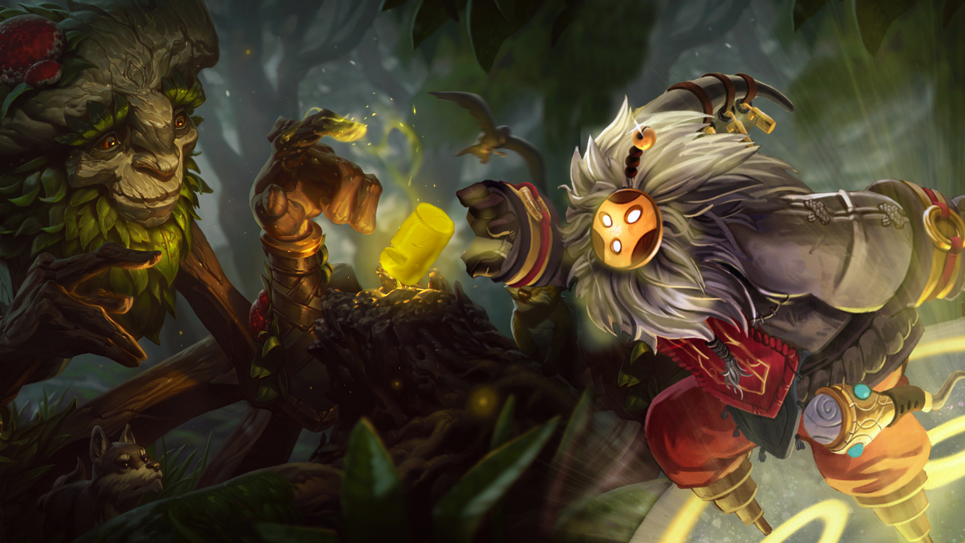 Bard Minimalistic League Of Legends Wallpapers League Of: Ivern And Bard HD Wallpaper