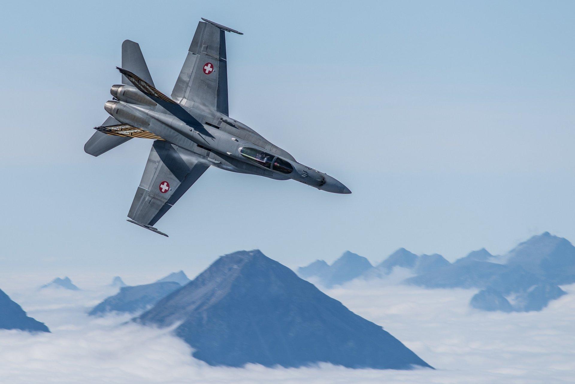 Militaire - McDonnell Douglas F/A-18 Hornet  Avion de Combat Aéronef Warplane Fond d'écran