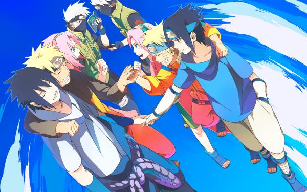Anime Naruto Naruto Uzumaki Sakura Haruno Sasuke Uchiha Kakashi Hatake HD Wallpaper | Background Image