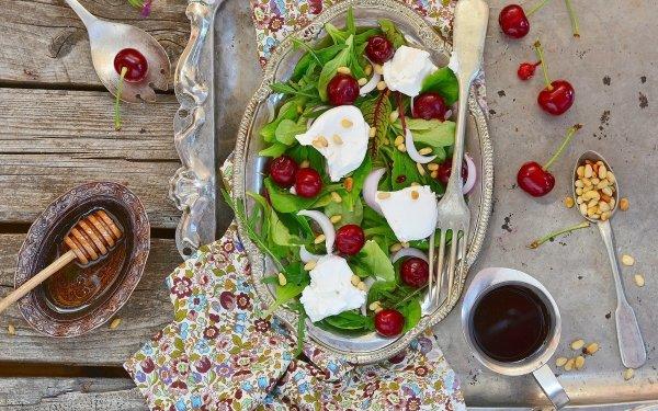 Food Salad Still Life Cherry HD Wallpaper | Background Image