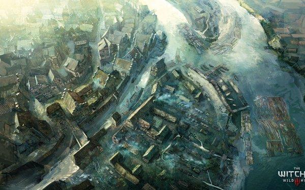 Jeux Vidéo The Witcher 3: Wild Hunt The Witcher Concept Art Novigrad Ville Fond d'écran HD   Image