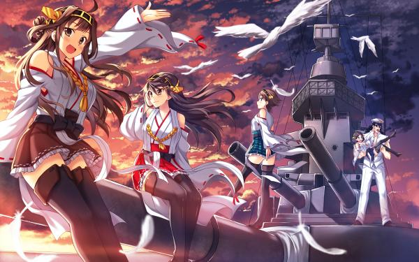 Anime Kantai Collection Kongou Haruna Hiei Kirishima HD Wallpaper | Background Image