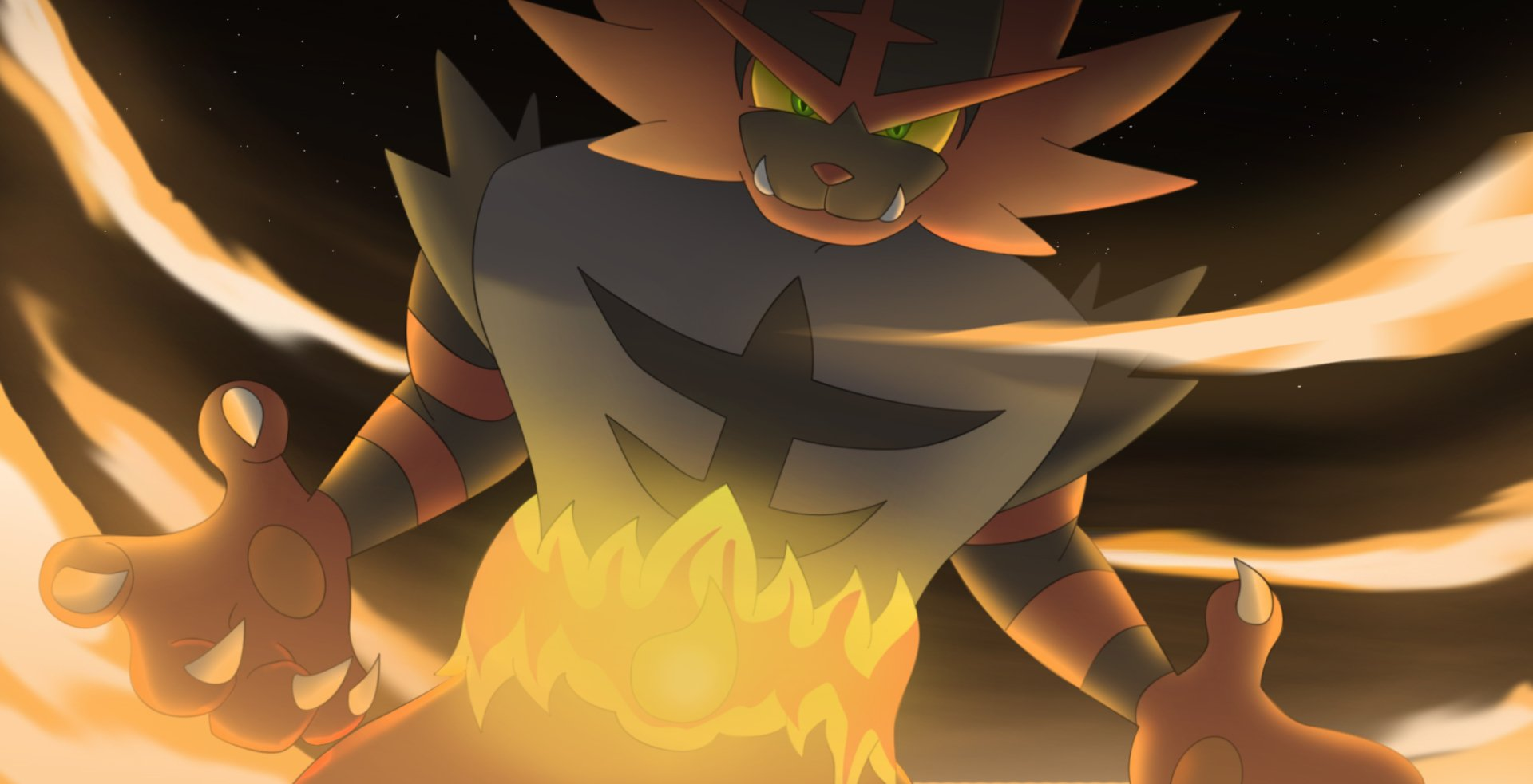 Pokemon Sun And Moon Wallpaper: Litten's Last Evolution Incineroar! Wallpaper And