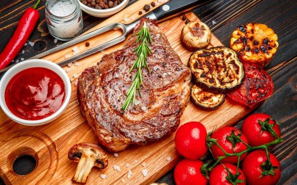 Alimento Carne Bodegón Sauce Tomate Fondo de pantalla HD | Fondo de Escritorio