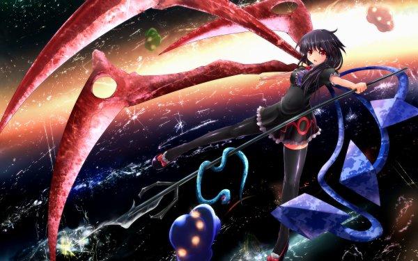 Anime Touhou Nue Houjuu UFO Black Hair Snake Flying Space HD Wallpaper   Background Image