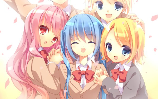 Anime Vocaloid Hatsune Miku Rin Kagamine Len Kagamine Luka Megurine HD Wallpaper | Background Image