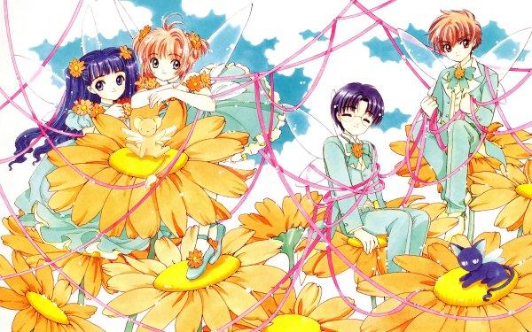 Anime Cardcaptor Sakura Sakura Kinomoto Tomoyo Daidouji Syaoran Li Eriol Hiiragizawa Keroberos Spinel Sun HD Wallpaper | Background Image