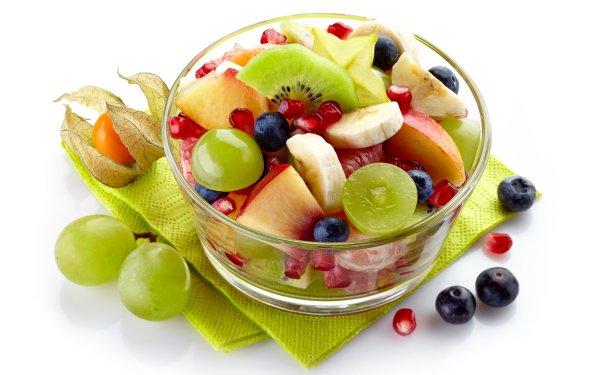 Alimento Fruta Frutas Ensalada Arándano Uva Plátano Fondo de pantalla HD | Fondo de Escritorio