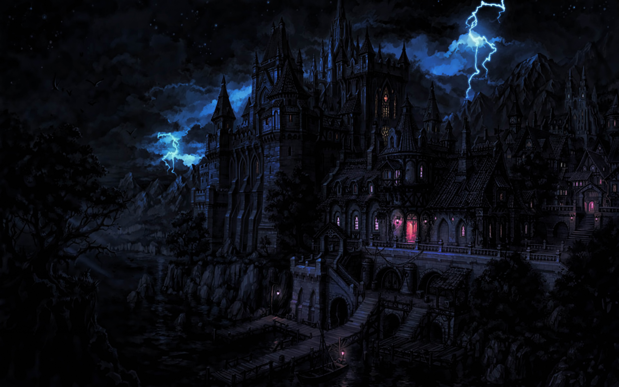 Draculas Castle Full HD Wallpaper And Background Image