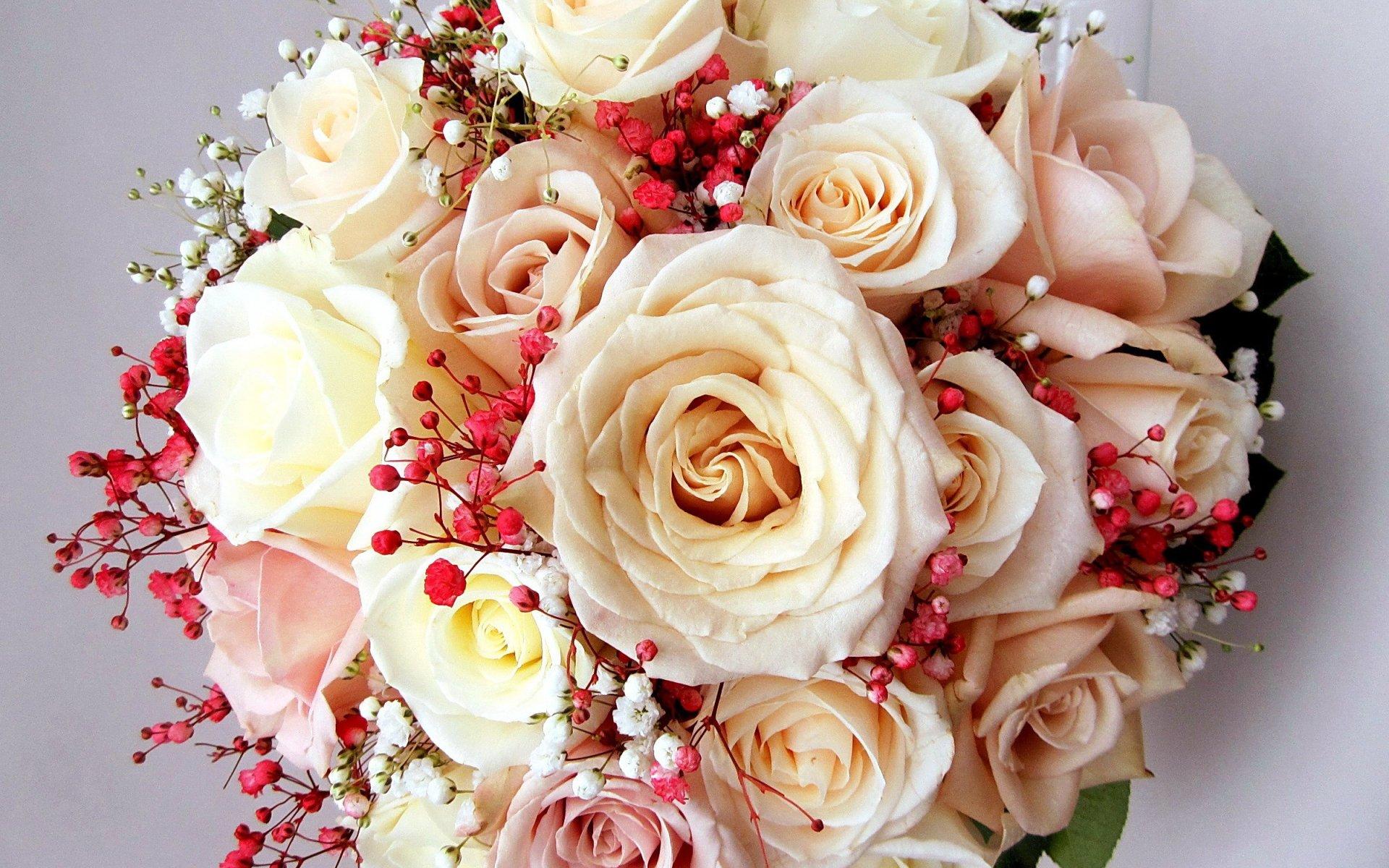 Man Made - Flower  Bouquet Rose White Rose White Flower Wallpaper
