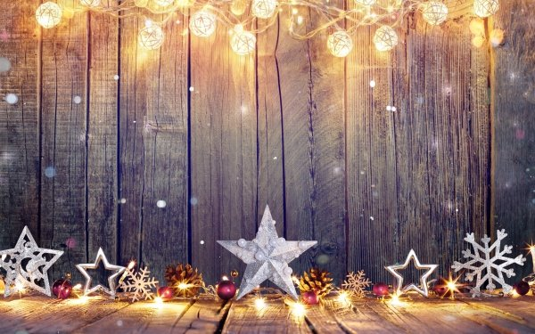Holiday Christmas Pattern Wood Light Snowflake Star HD Wallpaper | Background Image