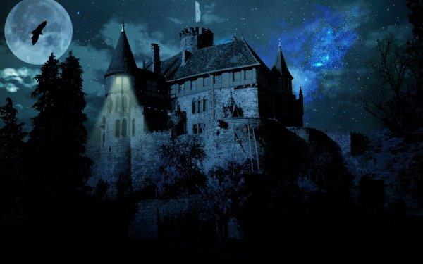 Oscuro Castle Castillos Fondo de pantalla HD | Fondo de Escritorio