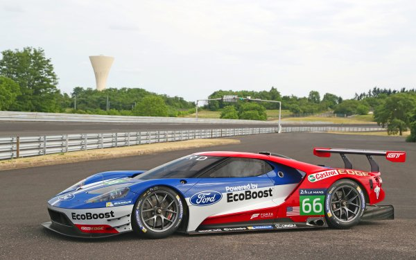 Vehicles Ford GT Le Mans Racecar Ford Ford GT Race Car Supercar Car HD Wallpaper | Background Image