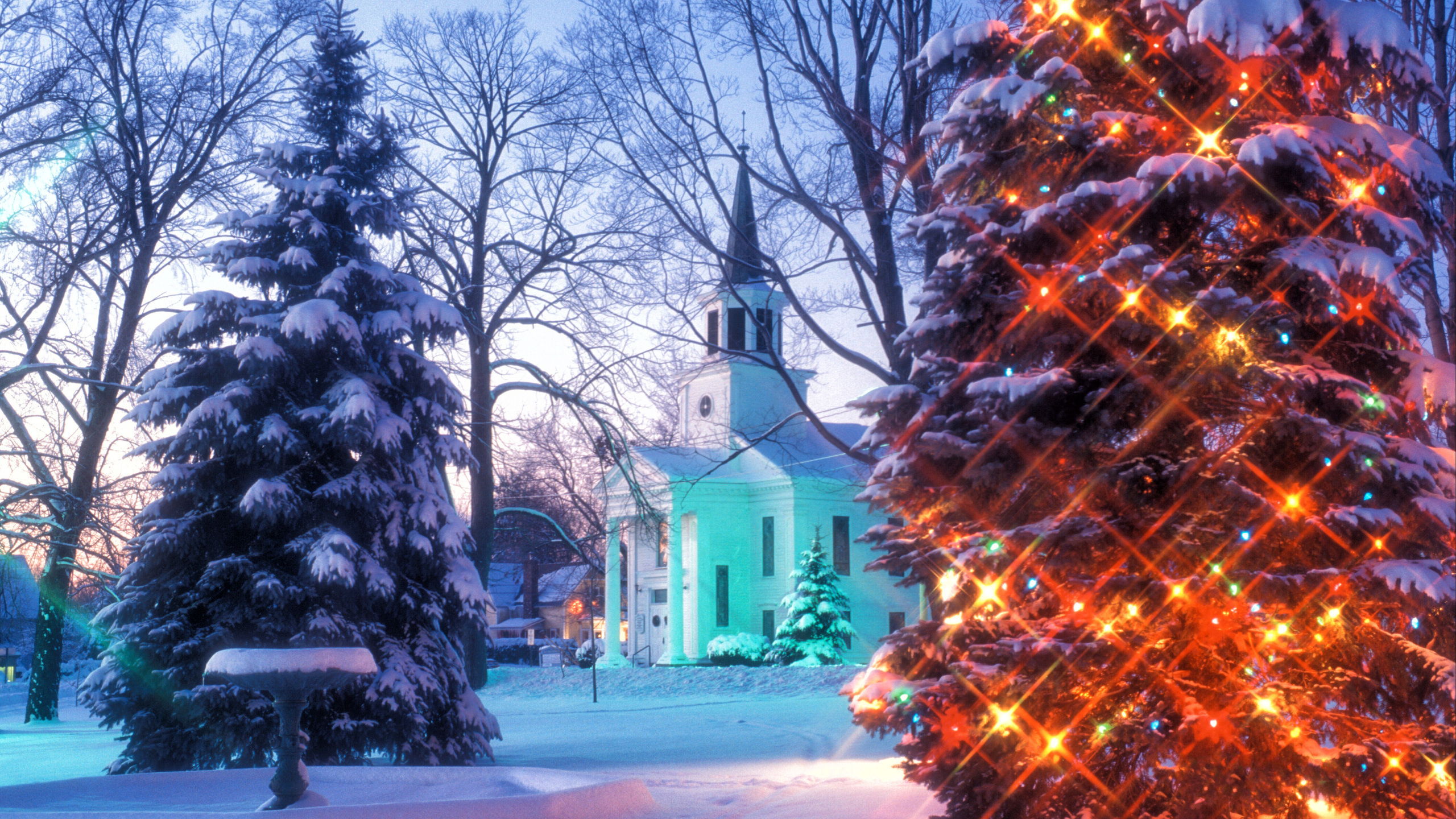 100 Holiday Desktop Backgrounds Hd Wallpapers: Christmas In Vermont HD Wallpaper