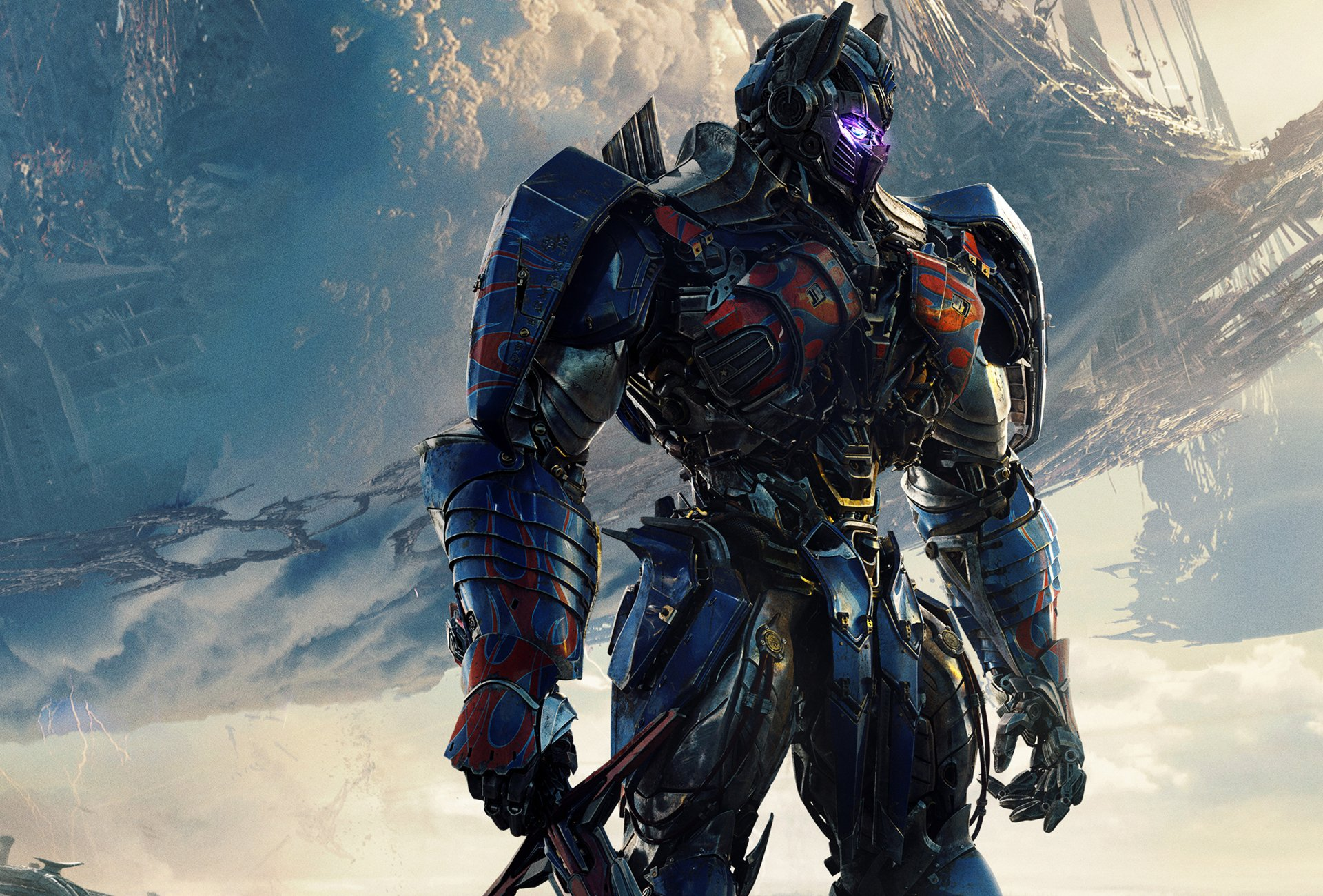 Films - Transformers: The Last Knight  Optimus Prime Wallpaper