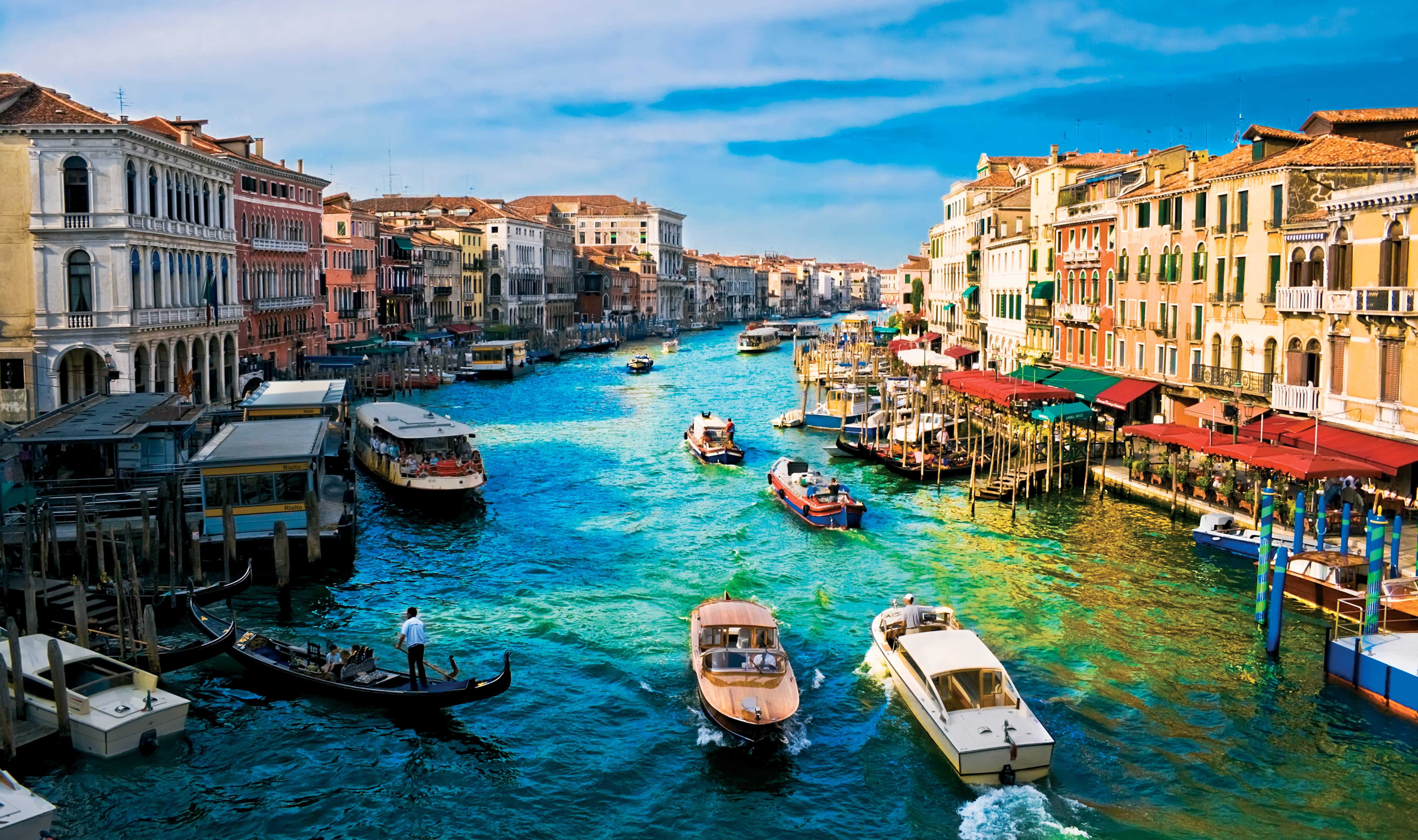 man made venice italy city grand canal canal boat wallpaper