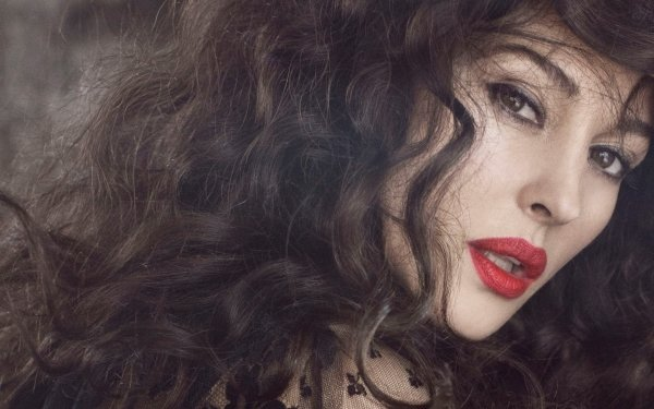 Celebrity Monica Bellucci Actresses Italy Actress Italian Face Lipstick Brunette Brown Eyes HD Wallpaper   Background Image