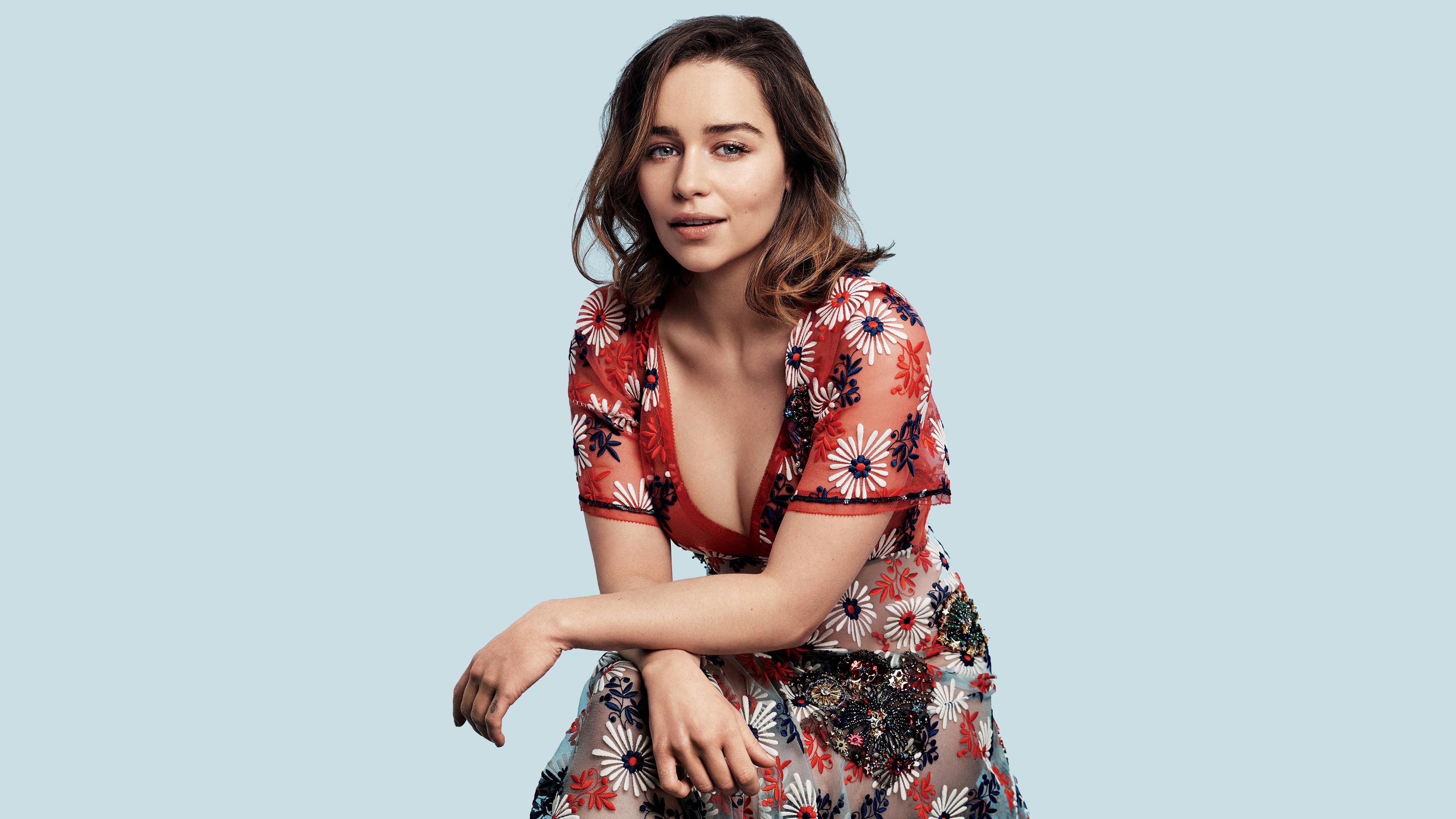 Emilia Clarke 4k Ultra Fondo De Pantalla Hd Fondo De
