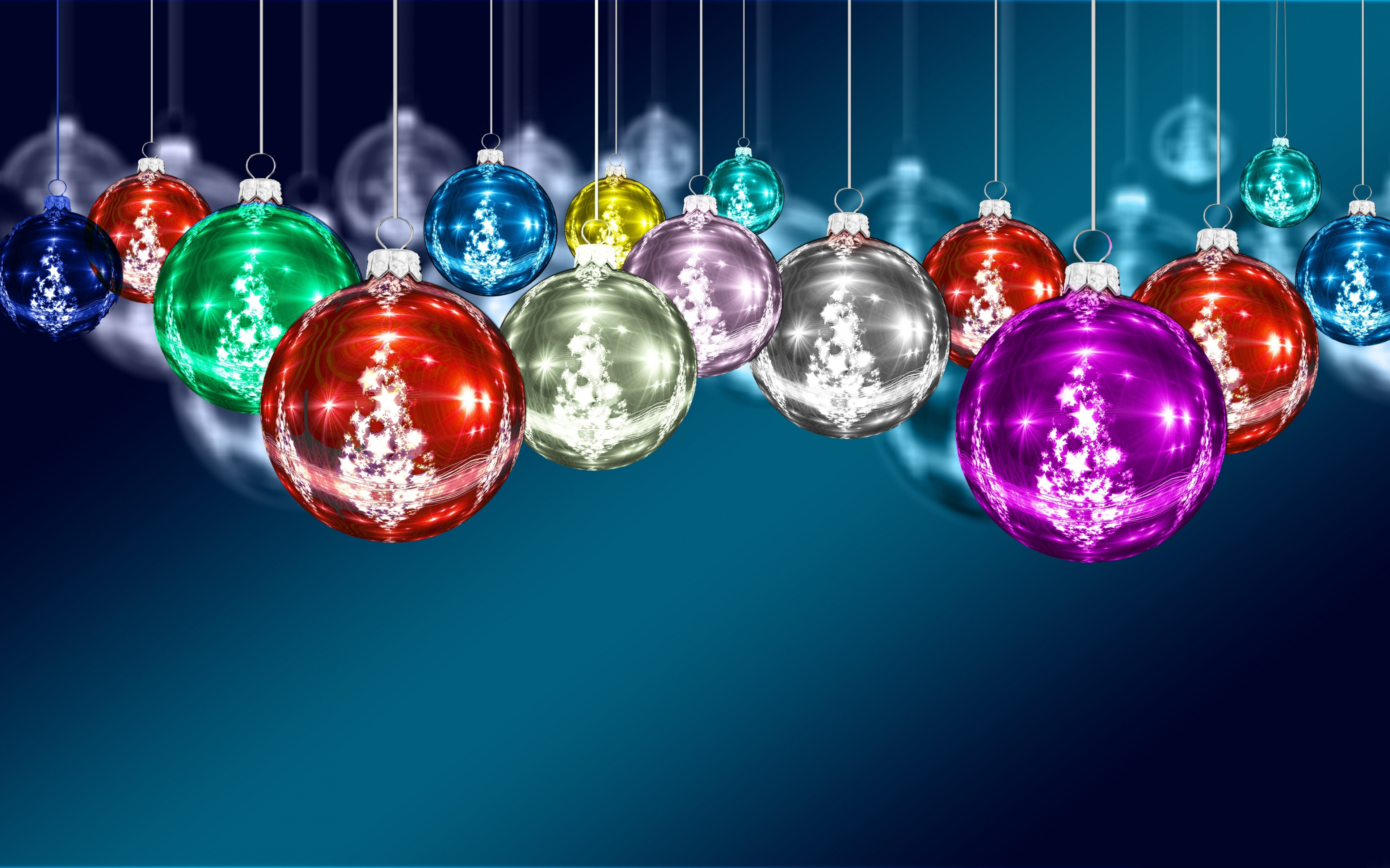 Colorful Christmas Ornaments 4k Ultra HD Wallpaper ...