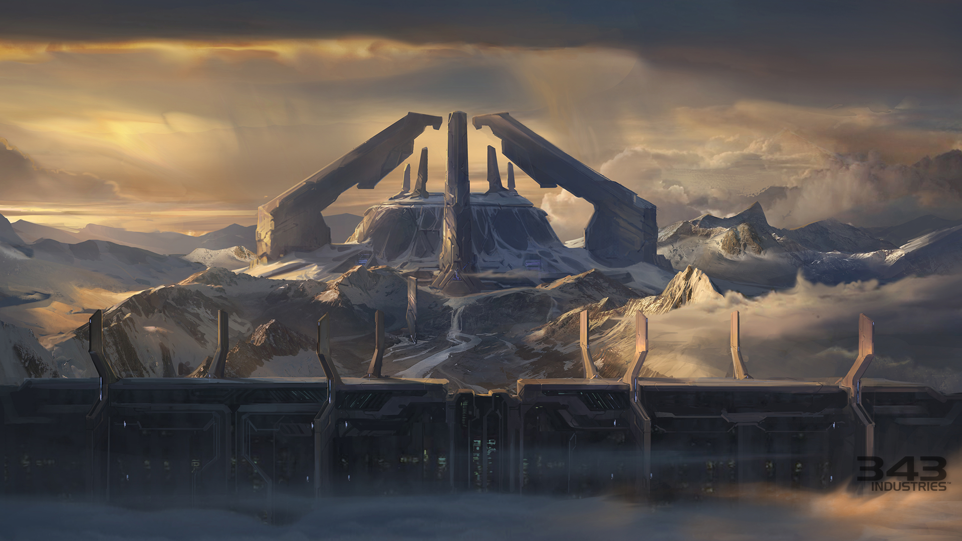 Video Game - Halo  Building Structure Landscape Wall Wallpaper