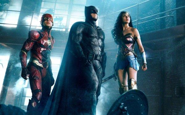 Movie Justice League Flash Batman Wonder Woman Ezra Miller Ben Affleck Gal Gadot HD Wallpaper | Background Image