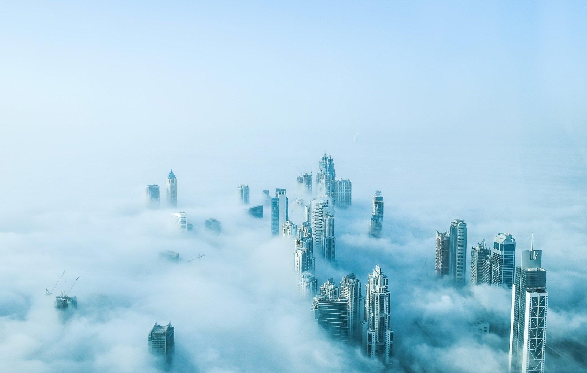 Man Made - Dubai  Aerial Building Skyscraper United Arab Emirates Fog City Wallpaper