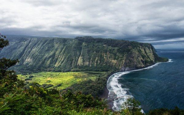 Earth Coastline Cliff Hawaii Ocean Sea HD Wallpaper   Background Image