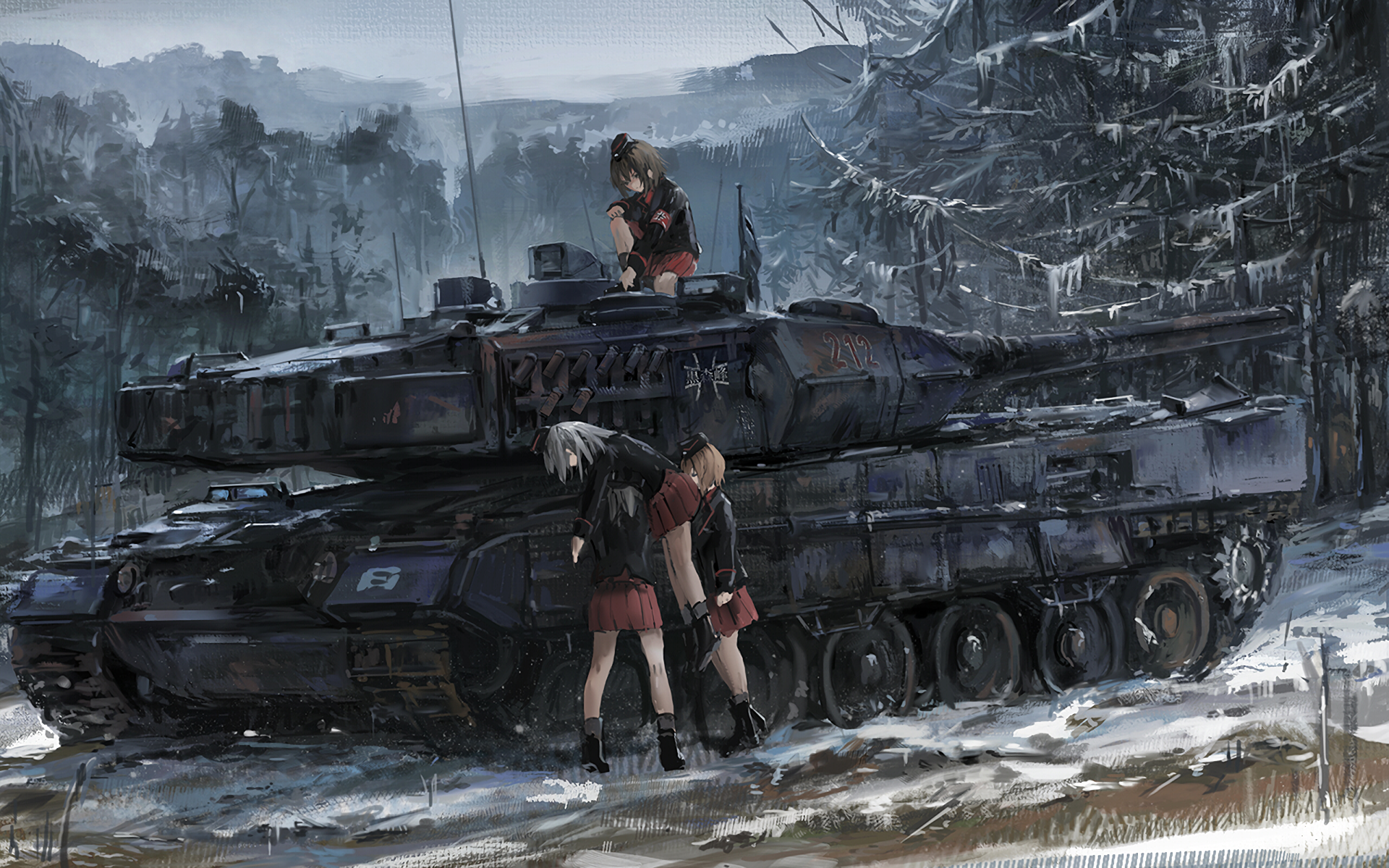 Girls und Panzer Full HD Wallpaper and Background | 1920x1200 | ID ...