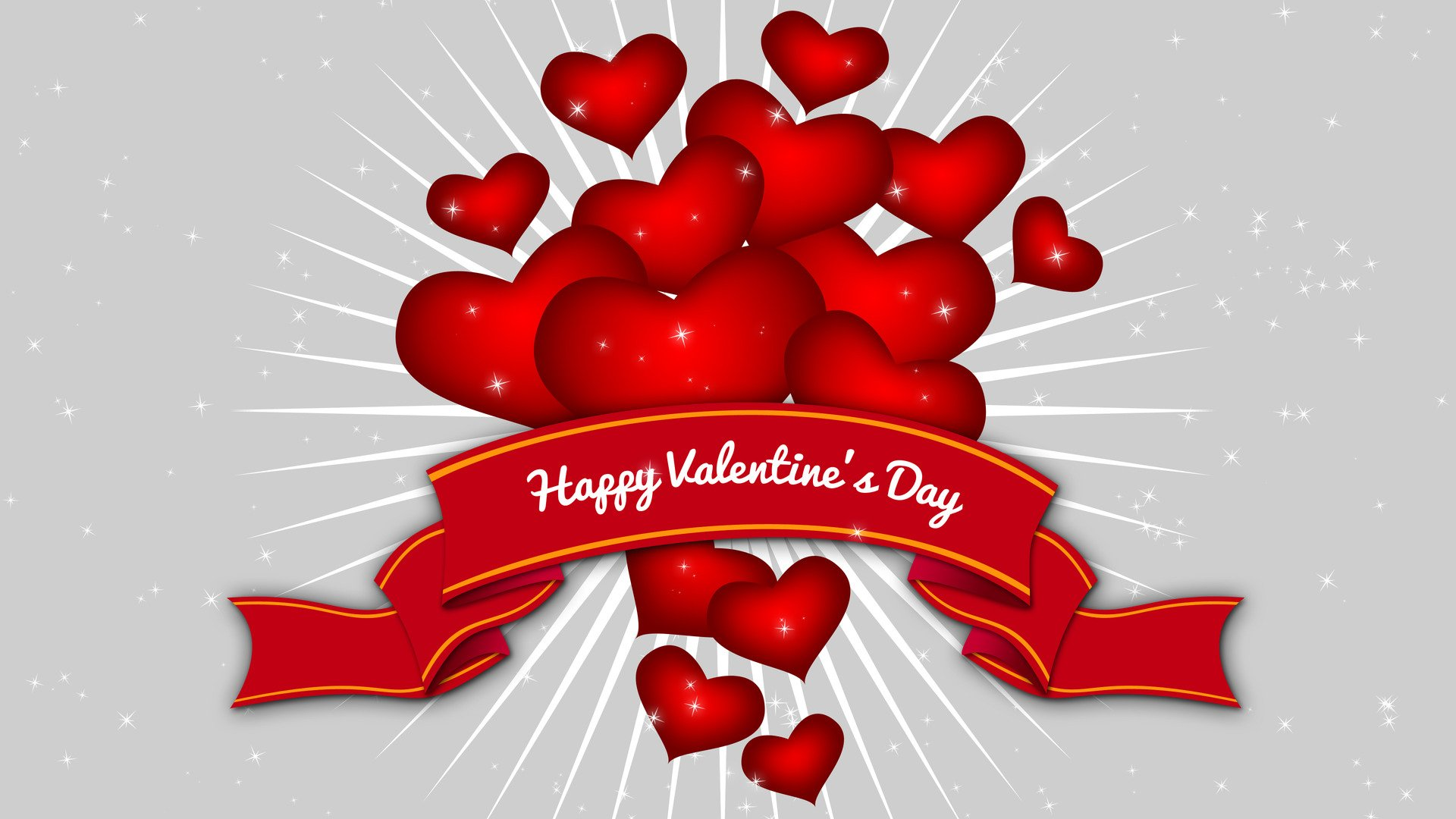 节日 - 情人节  节日 心形 Happy Valentine's Day 壁纸