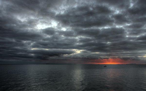 Photography Ocean Sky Grey Horizon Cloud HD Wallpaper   Background Image
