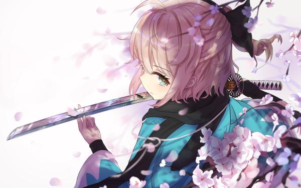 Anime Fate/Grand Order Fate Series Sakura Saber Okita Souji HD Wallpaper | Background Image