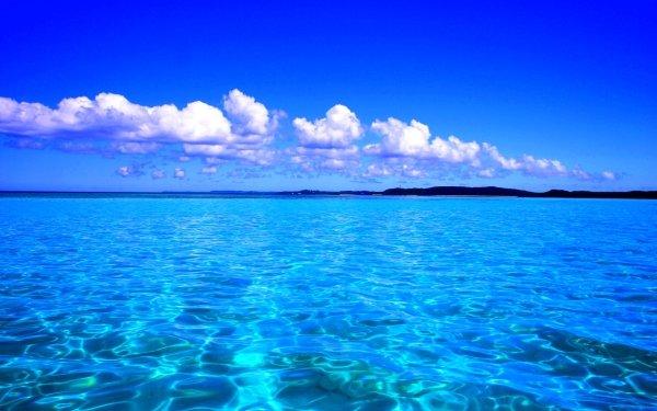 Earth Ocean Sea Caribbean Turquoise Sky Blue Horizon HD Wallpaper | Background Image