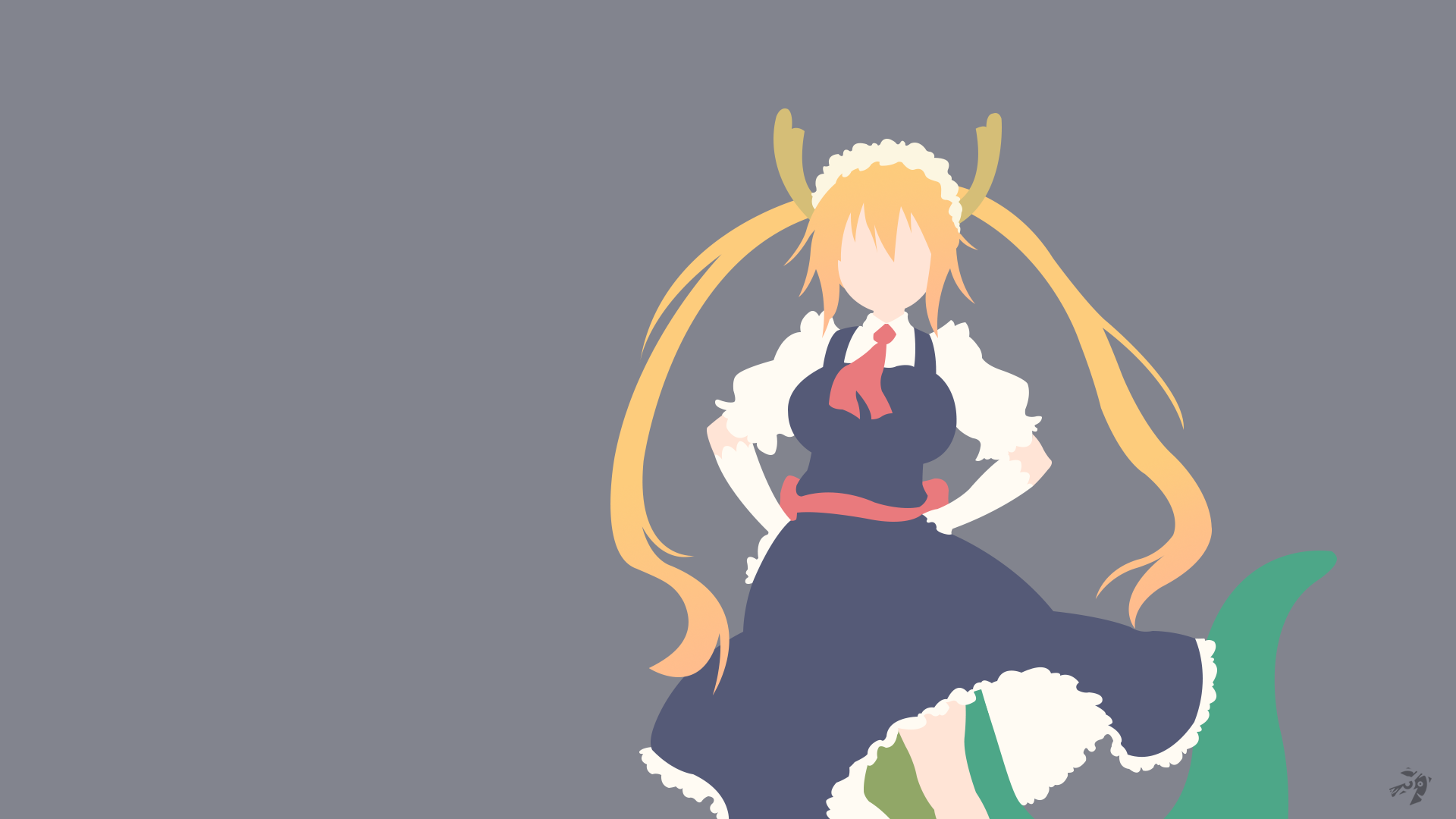 Miss Kobayashi S Dragon Maid Hd Wallpaper Background Image