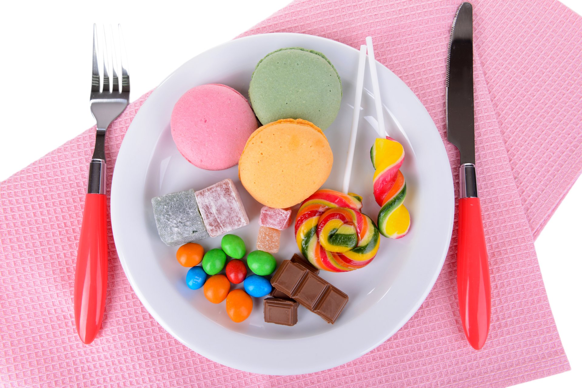 Food - Sweets  Chocolate Candy Lollipop Macaron Colorful Wallpaper