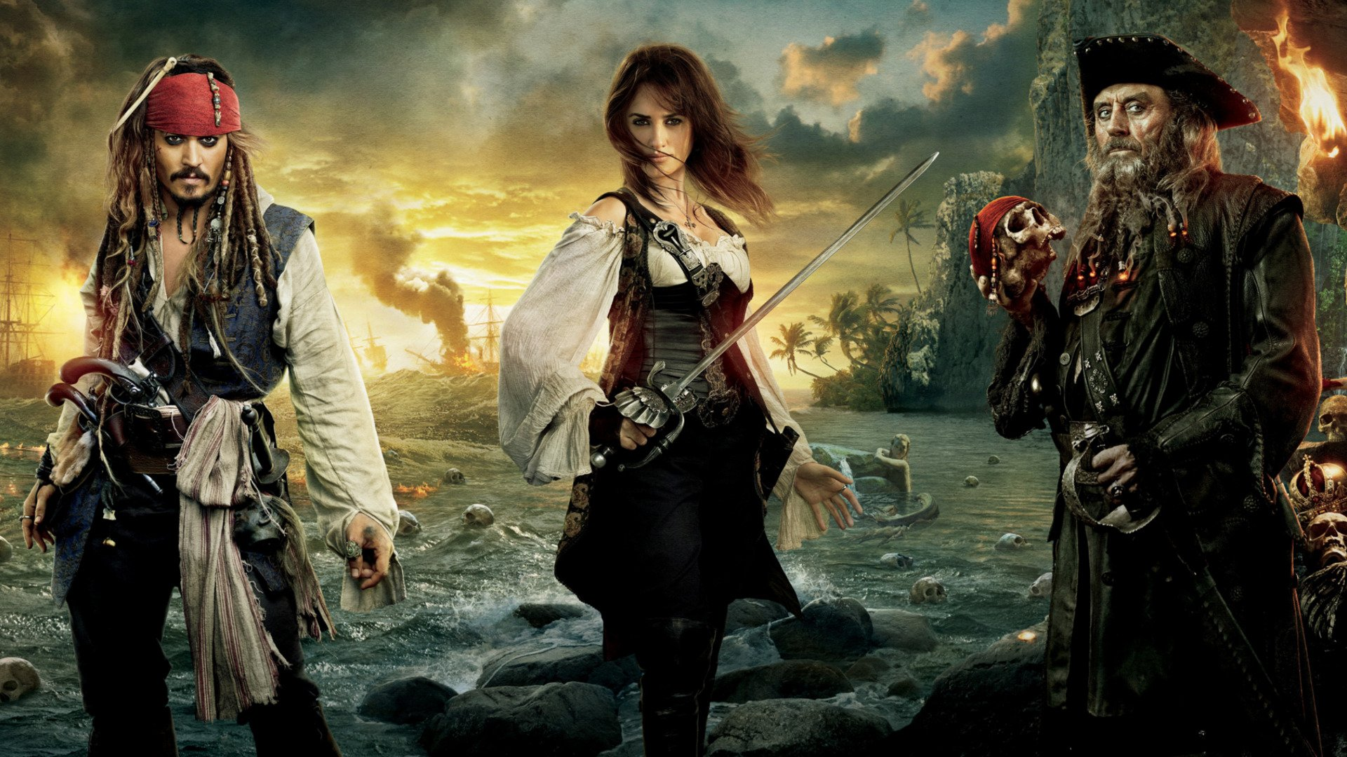 Pirates of the caribbean on stranger tides hd wallpaper background image 1920x1080 id - Pirates of the caribbean images hd ...