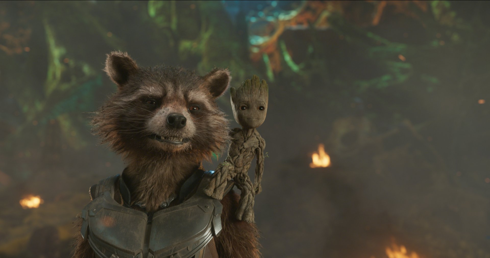 Movie - Guardians of the Galaxy Vol. 2  Rocket Raccoon Groot Wallpaper
