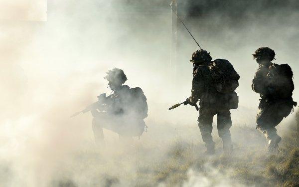 Military Soldier Weapon Smoke Firearm Smoke Grenade HD Wallpaper | Background Image