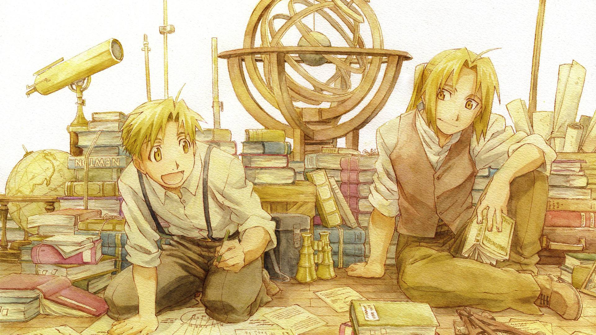 Full Metal Alchemist Edward And Alphonse Elric HD Wallpaper