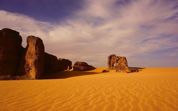 Earth Desert Algeria Africa Sahara Sand Dune Rock HD Wallpaper | Background Image