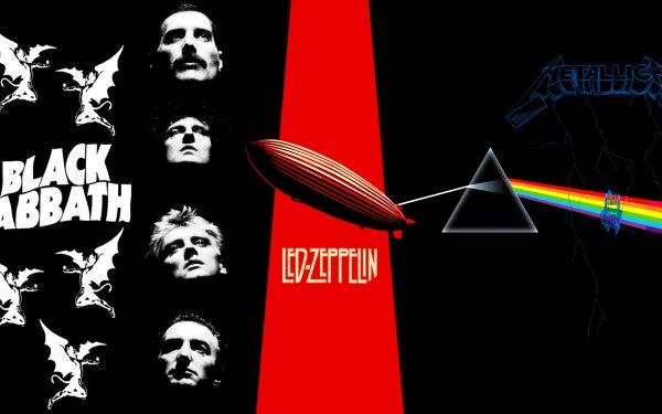 Music Rock'n'roll Queen Led Zeppelin Black Sabbath Pink Floyd Metallica Rock Rock & Roll Metal Heavy Metal Classic Rock HD Wallpaper | Background Image